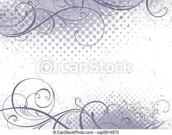 цветочный, задний план - csp5914973