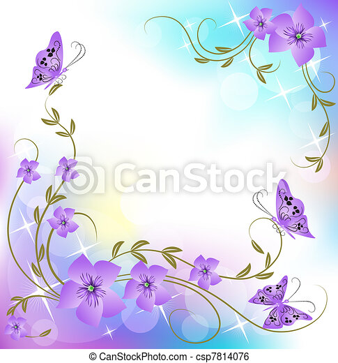 цветочный, задний план - csp7814076