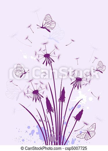 цветочный, задний план - csp5007725