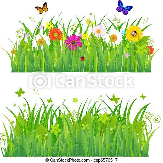 цветы, трава, insects, зеленый - csp6576517
