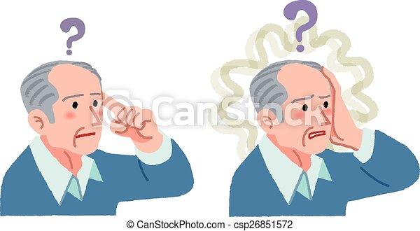 что нибудь, забытый, старшая, having, жест, человек - csp26851572