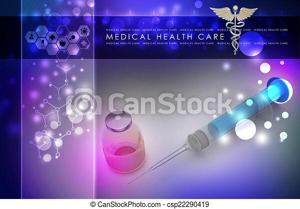 шприц, лекарственное средство - csp22290419