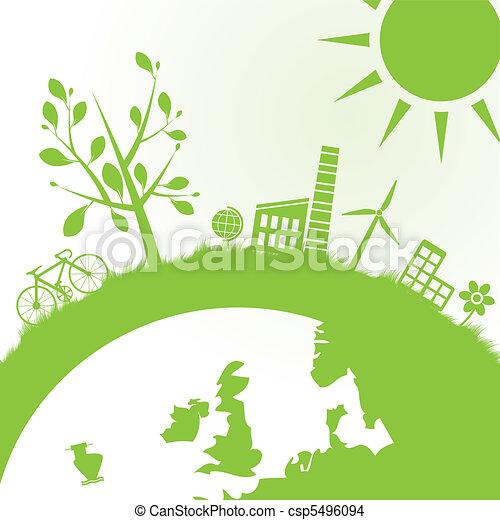 экология, мощность, задний план - csp5496094