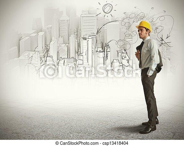 эскиз, архитектор - csp13418404