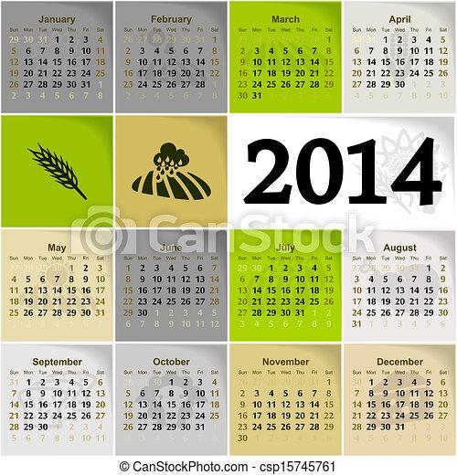 2014, календарь - csp15745761
