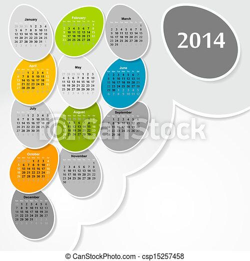 2014, календарь - csp15257458