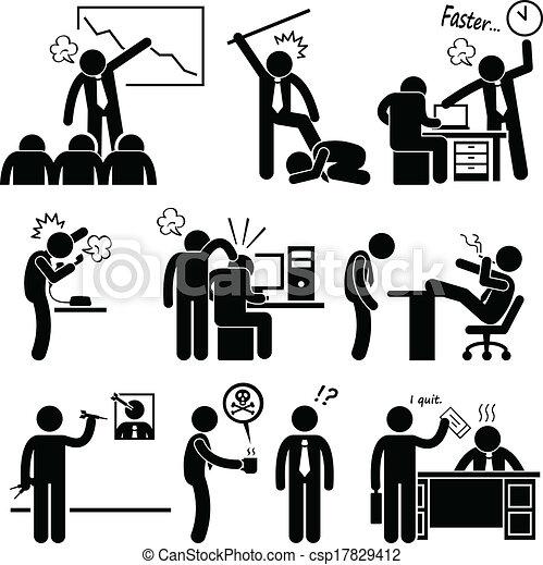 abusing, наемный рабочий, сердитый, босс - csp17829412