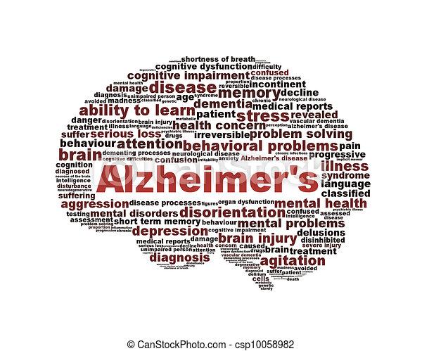 alzheimer's, символ, isolated, болезнь, белый - csp10058982