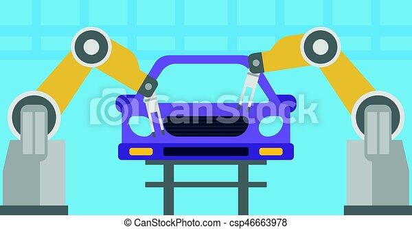 Роботизированный конвейер по сборке автомобилей конвейеры ооо