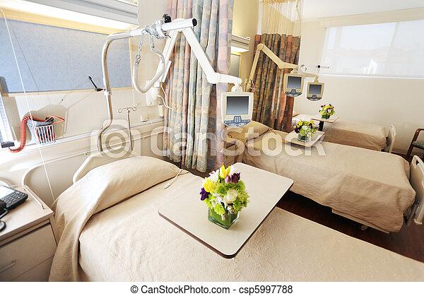 beds, больница, комната - csp5997788
