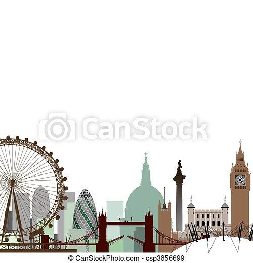 cityscape, лондон - csp3856699