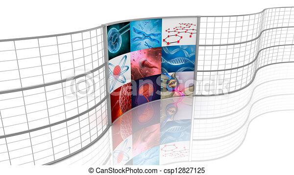 displays., задний план, medicine. - csp12827125