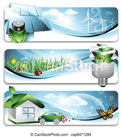 eco, banners - csp8471284