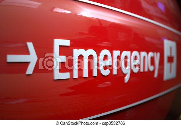 hospital., знак, крайняя необходимость - csp3532786
