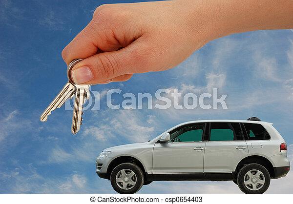 keys, автомобиль, handing, над - csp0654403