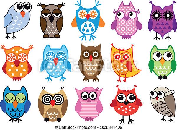 owls, вектор - csp8341409