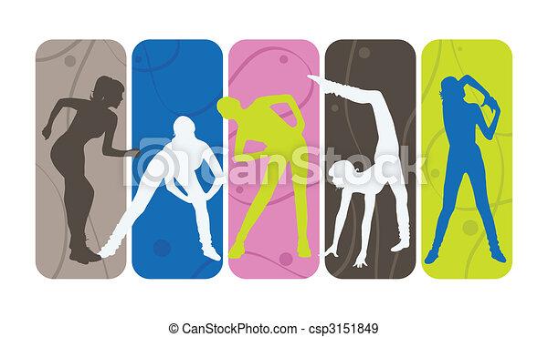 silhouettes, фитнес - csp3151849