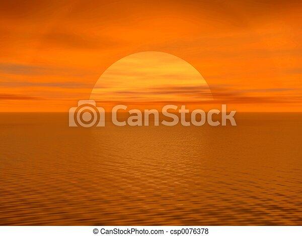 sunset. - csp0076378